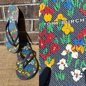 Tory Burch Rubber Flip Flop multi color Floral
